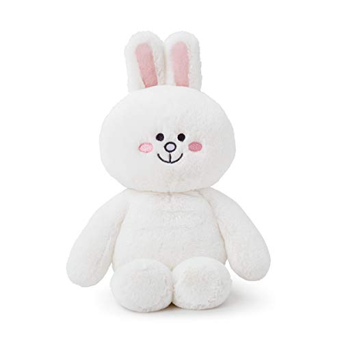 LINE FRIENDS Plush Figure - CONY Character Baby Design Cute Stuffed Toy Doll for Girls, White