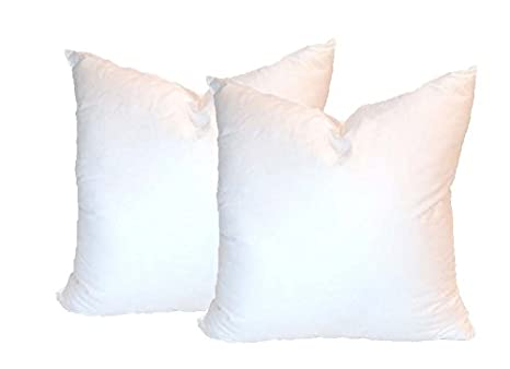 Pillowflex Set of 2 Synthetic Down Alternative Pillow Inserts for Shams (22 Inch by 22 Inch)