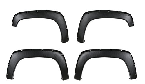 Gmc C1500 Rear Fender - CAREPAIR 4pcs Front and Rear Textured Black Aftermarket Pocket Riveted ABS Fender Flares for 1988-1998 Chevy/GMC C1500 C2500 C3500 / K1500 K2500 K3500