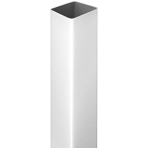 4 in. x 4 in. x 6 ft. White Vinyl Square Fence Post (Vinyl Fence Post)