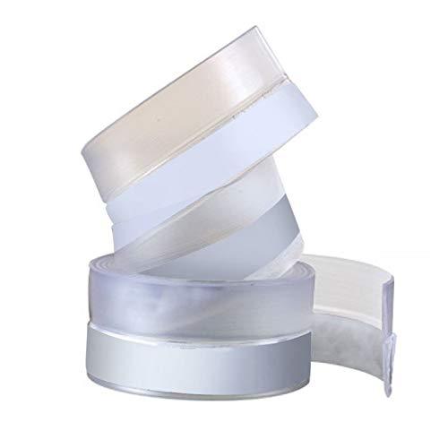 DHUDDUG Wetterfester Silikon-Dichtungsstreifen Tür-Boden-Streifen Silikon-Dichtungsstreifen, verwendet für Tür- und Fenster-Badklebestreifen, Antikollision, 25/35 / 45mm (5mx35mm, Transparent)