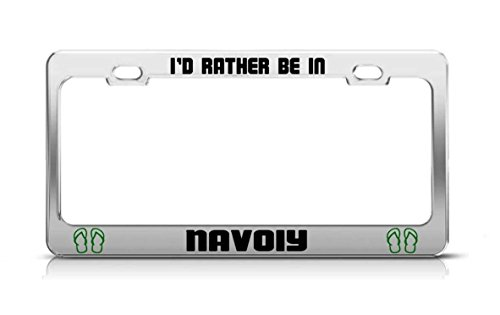 (YEX I'd Rather Be in Navoiy Uzbekistan License Plate Frame Car Tag Frame Auto License Plate Holder 12