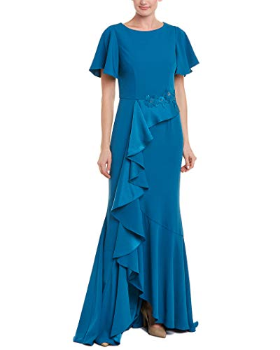 David Meister Gowns - David Meister Womens Gown, 10, Blue