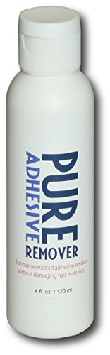 Pure Adhesive Remover - PURE 4 fluid ounce squeeze bottle,for Lace Wigs,Toupee,Hairpiece.
