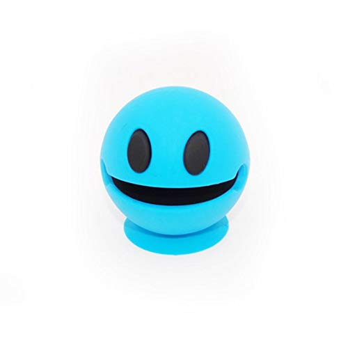 Gessppo New Eat Peas Man Smiley Wireless Bluetooth Speaker Waterproof Music Speaker Wireless Outdoor Shower Mini Suction Portable Also as a Phone Stand, Small, Cute (Blue)