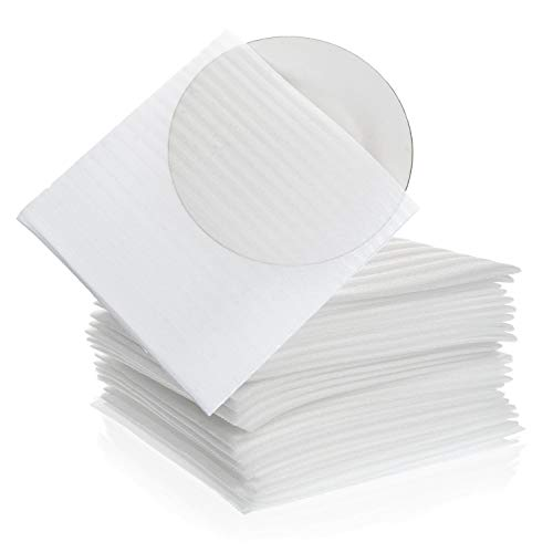 """Foam Wrap Cup Pouches 9 1/8"""" x 9 3/4"""" (30 Count), Cushion Pouches to Protect Dishes, Glasses, Porcelain & Fragile Items, Packing Supplies for Moving by California Basics"""