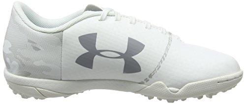 Under Armour Unisex-Kinder UA Spotlight TF Jr Fußballschuhe Weiß (White)
