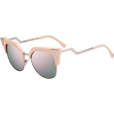 Fendi Women's Iridia Corner Accent Sunglasses, Pink/Rose Gold, One (Fendi Occhiali Da Sole)