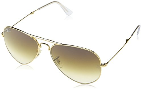 Ray-Ban AVIATOR FOLDING - ARISTA Frame CRYSTAL BROWN GRADIENT Lenses 58mm - Ban Sunglasses Collection Ray Latest