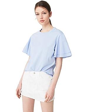 Mango Women's White Denim Skirt