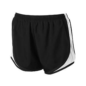 Sport-Tek Women's Cadence Short L Black/ White/ Black