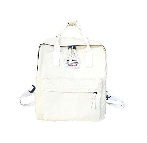 Mochila Linda almacenamiento grande, Holacha Bolso de mano Backpack 2 en 1 Elegante Retro para chicos chicas blanco