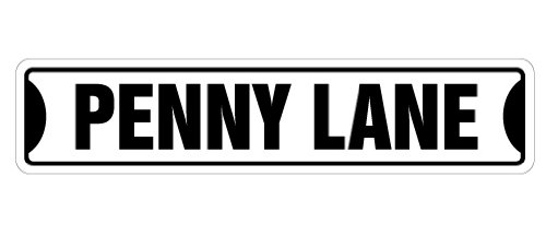"SignMission Penny Lane Street Sign New Signs Uk Music Beatles | Indoor/outdoor |  18"" Wide, 0.11 Pound from NoveltySignsOnline"