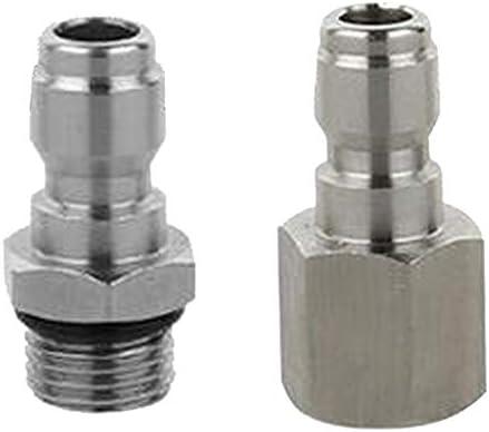 VANKOA 2 Schnellkupplung Für Hochdruckreiniger Düse Schlauchanschluss Reinigen