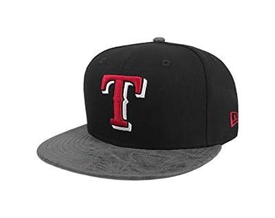 New Era 9Fifty Hat MLB Texas Rangers Rustic Vize Black/Gray Snapback Cap