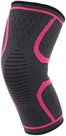 LilyAngel 膝ブレースサポート圧縮スリーブ、ランニング、痛み救済傷害回復バスケットボール、その他のスポーツ1個 (Color : Rose red, サイズ : XL)