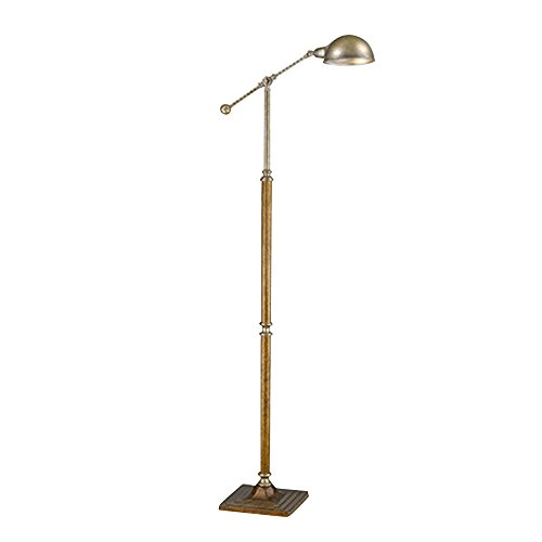 Retro Floor Lamps, Adjustable Standing Iron Modern Arc Floor Lamp Metal Side Table Lamp for Living Room Reading Bedroom Office Knitting Writing Puzzles Arts ()