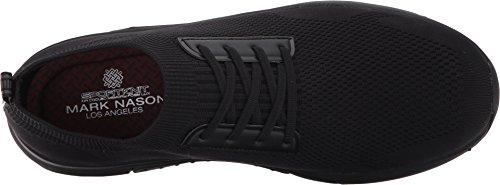 Mark Nason Los Angeles Heren Bolton Slip-on Loafer Zwart Sportknit / Zwarte Onderkant
