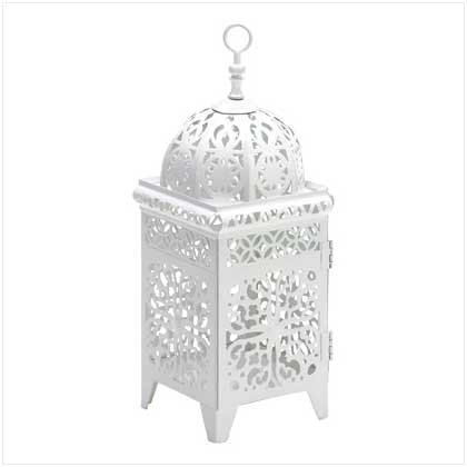 Gifts & Decor White Scrollwork Candlehol