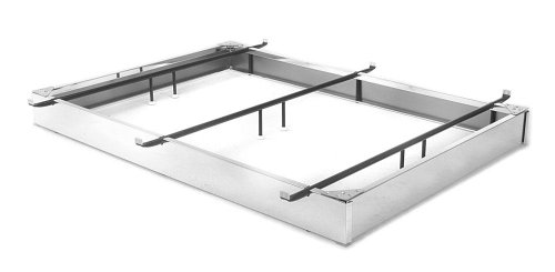 """6"""" Brass Finish Steel Bed Base - King Size"""