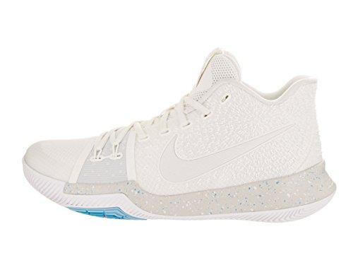 Nike Männer Kyrie 3 Basketball Turnschuhe Elfenbein / blass grau-heller Knochen