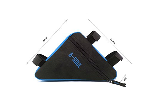 Qzc Bike Seat Pack Bike Bag Cycling Bicycle Frame Front Triangle Bag Bike Under Seat Top Tube Bag For Bike Tube Frame (Blue)
