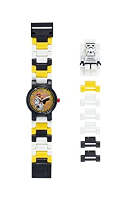 LEGO Buildable Watch with Link Bracelet and Minifigure | Plastic | Analog Quartz | boy Girl | Official by Lego