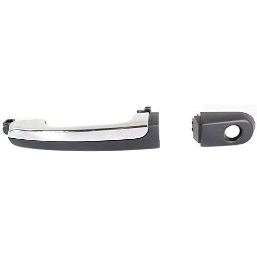 (Exterior Door Handle for Ford Taurus 08-08 Front or Rear LH Outside Primed W/Chrome Insert (Handle+Cover) Left Side)