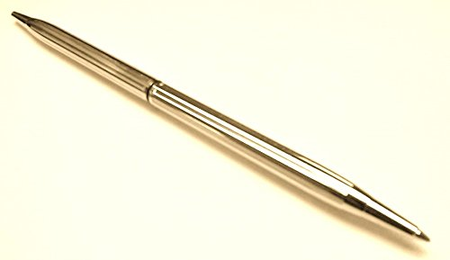 2 Desk Set Replacement Pens, Executive Slimline, Brass Ballpoint in Gold Tone Finish