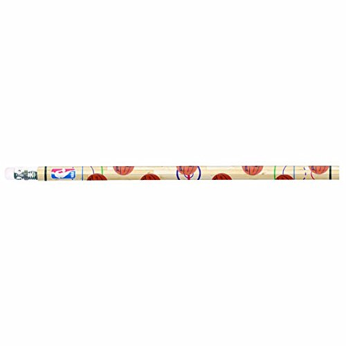 Amscan Sports & Tailgating NBA Party Spalding Basketball Pencil Sety Favours, Wood, 7'', Pack of 12 Party Supplies by Amscan