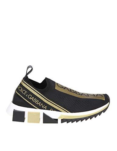 Dolce e Gabbana Women's Ck1595az28989718 Black Polyester Slip On Sneakers