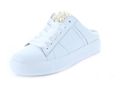 Kennel E Schmenger Schumanufaktur Signore Mule-sneaker Grande 71-14890-627 Applicazione Suola In Cuoio (vitello) Bianco