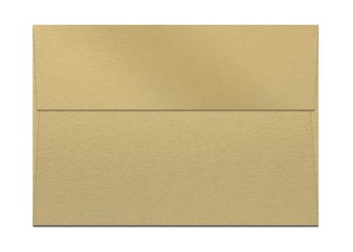 A7 Curious Metallic Gold Leaf Greeting Card Envelopes. 250 Envelopes by Superfine Printing Inc.