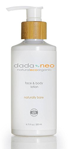 Organic Baby Lotion Naturally Safe for Face and Body by Dada & Neo - Soft Comforting Natural Formula For Sensitive, Dry, Eczema, Cradle Cap. Paraben Free and Pthalate Free by Dada & Neo