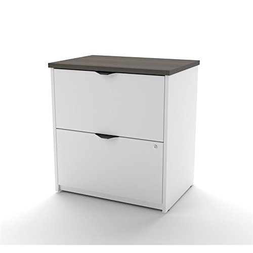 Bestar Innova 2 Drawer Lateral File in White and Antigua