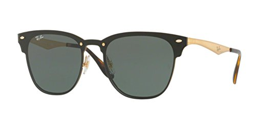 Ray-Ban-RB3576N-04371-Gold-Striped-Blaze-Round-Sunglasses-Lens-Category-3-Size