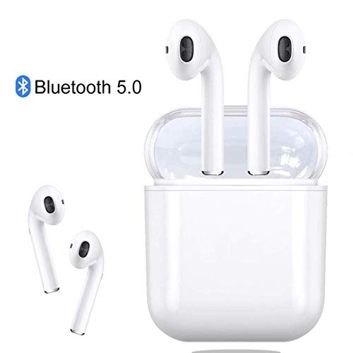 Bluetooth Headset 5.0 Wireless Earbuds, 3D Stereo HD Binaural Microphone Sports Headphones, Automatic Pairing, With Portable Charging box 24 hours , for Apple Airpods iPhone Samsung Android