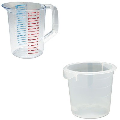 (KITRCP3216CLERCP572124CLE - Value Kit - Rubbermaid Clear Round Storage Container (RCP572124CLE) and Rubbermaid-Clear Bouncer Measuring Cups 1 Quart (RCP3216CLE))