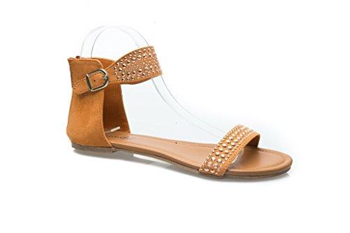 Sandalo Piatto Bonnibel Da Donna Con Cinturino Alla Caviglia E Chiusura Lampo