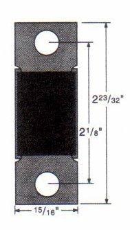 Wellington Dummy (Kwikset 81231 Metal Strike Box)