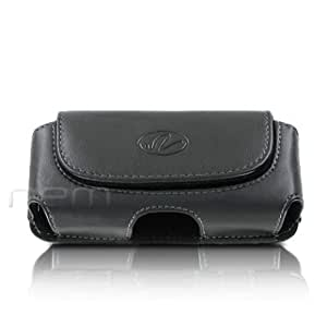 Black Color Horizontal Imitation Leather Cover Belt Clip Side Case Pouch For NIU DOMO 2 N202