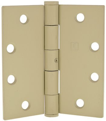 HAGER FULL MORTISE PLAIN BEARING HINGE WITH NON-REMOVABLE PIN, STANDARD WEIGHT, 4-1/2 IN. X 4-1/2 IN., PRIME COAT, 3 PER PACK