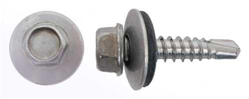 40 Bohrschrauben Form K DIN 7504 Edelstahl A2 16mm Dichtscheibe 5,5x38