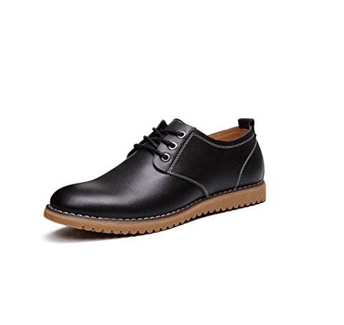 Toile Ruban Hommes Couleur Sport Bottes Point Point zmlsc Casual Black Chaussures en Saison Souple Sandales Ronde Cuir D'affaires Oav5qz