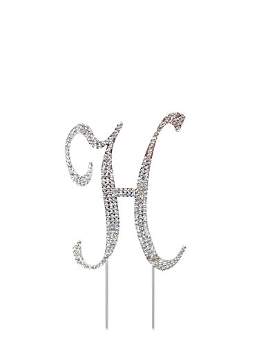 Rhinestone Crystal Cake Topper Silver, Numbers, Letters for