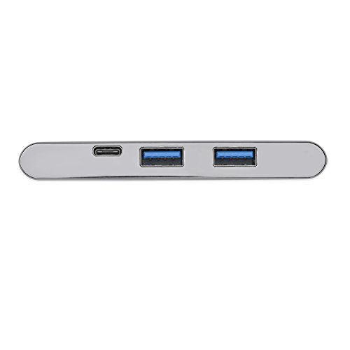 Fosa 6 In 1 USB3.1 Type-C to 2 Port USB 3.0 Hub TF / SD Card Reader with 4K HDMI & USB-C PD Port(Silver) by fosa