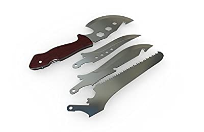 Outdoor Garden 4-IN-1 Combination Tool Sets, Axe Saw Knives Tool,Protable Survival Knife Kits.