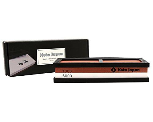 Kota Japan # 1000-6000 Grit Premium Whetstone. Knife Sharpening Stone VALUE BUNDLE Kit. ENJOYABLE, Smooth, EFFORTLESS. NO-SLIP Base, Utmost SAFETY, Superior QUALITY,, Perfect (Best Soap Japans)