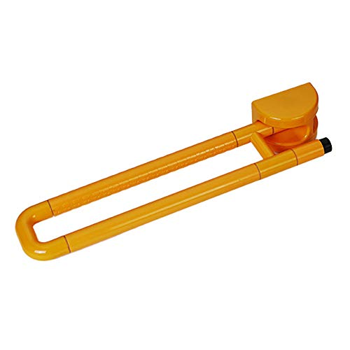 (Household items Bathroom handrail, Nylon Stainless Steel U-Shaped Bathroom Wall Mount Safety Support, Folding Old Age Non-Slip Bathtub Handle Toilet handrail Towel Rack)
