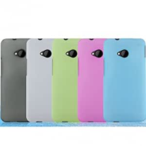 Snow Jade Clear Anti-finger Matte Protective Case for HTC One M7 --- Color:Black